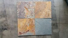 "SLATE TILES 12""X12"" MULTICOLOR SUNSET  16""x16"""