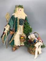 Judy Fresk Ltd. Edition Porcelain Father Christmas 1988 Santa Figure Statue Doll