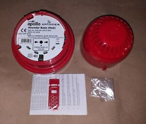 Apollo XPander Red Sounder With Mounting Base Wireless Radio Fire Alarm Sounder