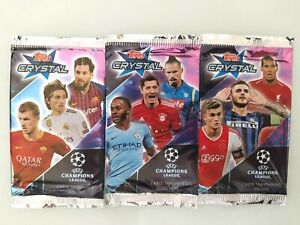 TOPPS CRYSTAL 2018/19 CHAMPIONS LEAGUE 3 PACKS SANCHO, MBAPPE, MCKENNIE RC...