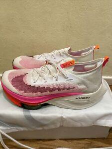 Nike Men's Air Zoom Alphafly NEXT% Flyknit White/Pink [DJ5455-100] Sz 10.5 New