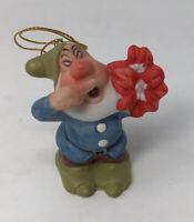 Vintage SCHMID Walt Disney Co. SNEEZY Ornament Figurine - Snow White / Dwarf