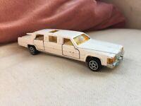 Vintage Majorette Cadillac Limousine Die Cast No 339 1/58 White Metal Car France
