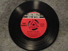 "45 RPM 7"" Record Tony Bennett Who Can I Turn To The Shadow Of Your Smile 4-33099"