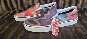 NWT Vans Slip On Dark Aura Mens Size 11.5 Multi Color Skate Shoes 🔥🔥