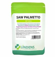 Saw Palmetto 500mg Tablets (100 pack) Made in UK