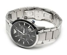 New Emporio Armani AR2434, Black Dial Men's Trendy Chronograph Watch