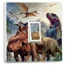 Dinosauri singolo Interruttore Luce Adesivo in Vinile Copri Skin Adesivi Murali Camera da Letto