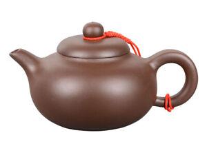 Yixing Ton Teekanne / Kaffeekanne 250ml, handgefertigt, glatt dunkel