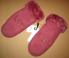 UGG Gloves Classic Logo Mittens Sangria L/XL NEW