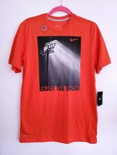 "Nike Men's Dri-Fit Cotton ""Enjoy The Show"" T-Shirt Size Small Style 543454"