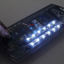 """2x 4"""" 10cm White Bright LED Flexible 12V Car Headlight Waterproof Light Strips"""