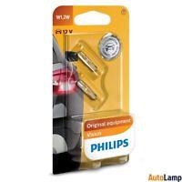 PHILIPS W1.2W Vision Halogen Bulb 12V 1.2W W2x4,6d 12516B2 Twin