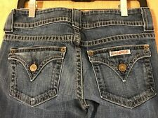 "Hudson women's jeans size 28 inseams 28"" stretch zipper fly USA made whiskering"