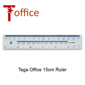"""6"""" Ruler Clear Shatter Resistant 6 Inch Small Measuring Rulers T Office"""