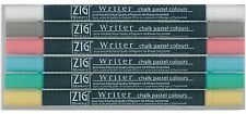 6 PACK WRITER CHALK PASTEL DUAL-TIP MARKERS Zig Memory System Scrapbooking