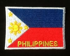 PHILIPPINES  NATIONAL FLAG BADGE IRON SEW ON PATCH BACKPACKER MANILA