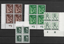 Germany  3th Reich @    Good   Blocks of 4 MNH  @  pce122-755