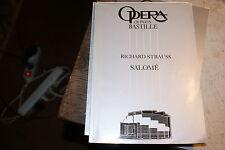 Programme de l'Opéra Bastille de paris strauss salome