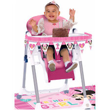 Baby Minnie First Birthday High Chair Decorating Kit 1st Birthday Party Supplies