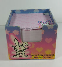 Happy Bunny Memo Pad 4in Notes Jim Benton Rare Know How You Feel Talk About Me