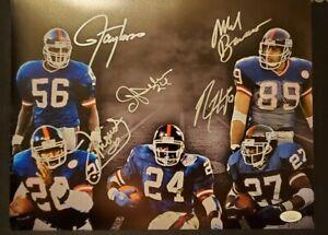 New York Giants Signed Lawrence Taylor,  Bavarro, Anderson, Hampton, Morris