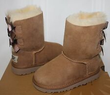 Ugg Toddler Bailey Bow boots Chestnut suede NEW