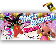Striscione Banner COMPLEANNO PERSONALIZZATO BING SULA  Feste Compleanno FESTA