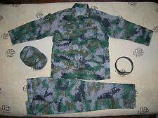 07's series China PLA Army Officer Woodland Digital Camo Combat Clothing,Set