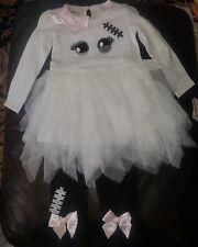 Bonnie Jean Halloween Ghost Mummy Top/Tutu Legging Set 3T