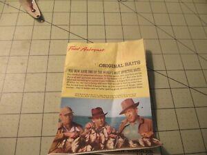 1950's - 1960's vintage FRED ARBOGAST Fishing Baits Catalog Brochure Order Form