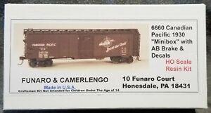 Funaro F&C 6660 CANADIAN PACIFIC 1930 CP Mini Boxcar MINIBOX AB Brk Spans World