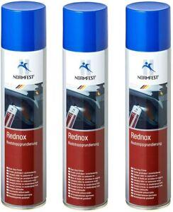 Normfest 3x Rednox Roststopp-Grundierung Spray 400 ml/Dose