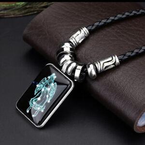 Sternzeichen Leder Halskette mit Anhänger Kette Geschenk Unisex 12 Sternzeichen