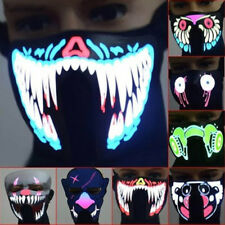 Wire Flash Light Up LED Masks Neon Rave Horrific Cosplay Party Halloween Costume