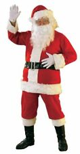 Santa Claus Flannel Suit with Beard and Wig Adult Christmas Costume Fancy Dress