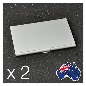 2 x Aluminium Metal Business Card Holder Case Credit ID