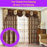 Swag Valance Coffee Brown Cappuccino Bedroom Curtain Drapes Sheer Eyelets Pleats