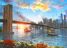 1000Piece Jigsaw Puzzle Brooklyn Bridge Hobby Home Decoration DIY