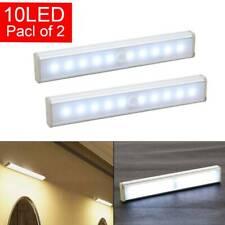 2 × Motion Sensor Cabinet 10 LED Lights Battery PIR Wardrobe Cupboard Light