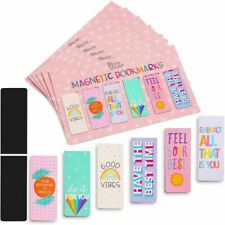 36-Pack Magnetic Bookmarks with Inspirational & Positive Quotes for Kids