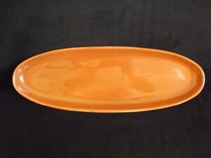 "Pottery Barn Red Sausalito Oval Fish Platter Olive Cheese Tray 20.5"" x 7"""