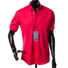 Alexander McQueen Shirt Size 42 (52) Solid Red Fine Cotton