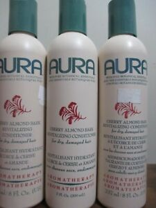 Lot of 3 AURA Cherry Almond Bark Revitalizing Conditioner 7 oz - RARE