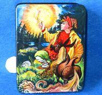 Laqueado Caja Pájaro de Fuego The Humpbacked Caballo Rusa Fedoskino Oropel Fairy