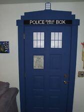 LARGE Dr. Who Tardis police call box DECAL kit Sticker WALL DOOR FRIDGE vinyl