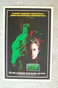 The Incredible Hulk TV promotional poster Poster #1 Bill Bixby Lou Ferrigno