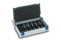 TANOS MINI Systainer Classic Gr 1 licht grau+ Einsatz f. Fräser & Deckel polster