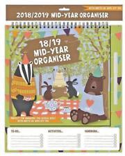 2018-19 Mid-Year Hanging Home-School Organiser calendar - Woodland Animal
