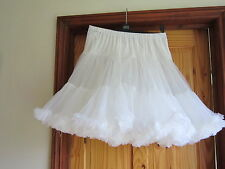 Beautiful White Square Dance, Jive Rock&Roll 60's Petticoat med length 27""
